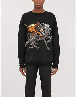 Givenchy Moonlight Pegasus wool-blend sweatshirt