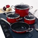 Chantal Copper Fusion 7-Piece Cookware Set in Chili Red