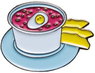 Make Heads Turn Enamel Pin Pink Cold Soup