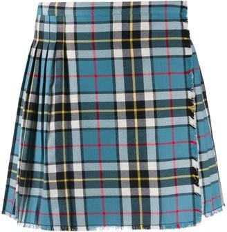 Acne Studios Plaid Pleated Mini Skirt