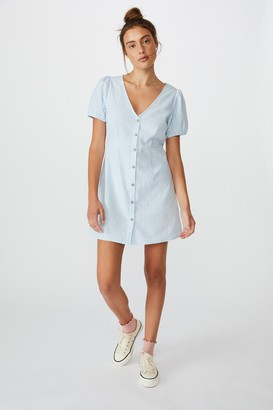 Cotton On Woven Briony Button Front Mini Dress