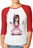 ENJOYSS Women's Melanie Martinez Album Pictures Raglan 3/4 Sleeve T-Shirt