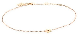 ginette_ny Milky Way 18K Rose Gold Open Star Bracelet