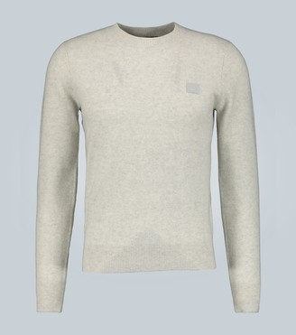 Acne Studios Kalon Face wool crewneck sweater