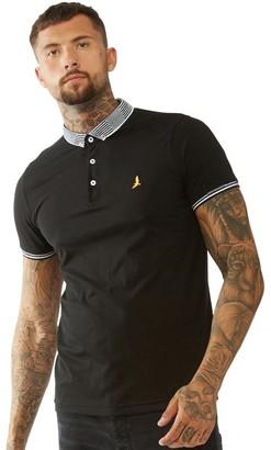 Brave Soul Mens Glover Contrast Collar Polo Black