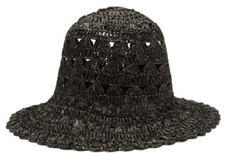 Reinhard Plank Hats - Macrame-knitted Bucket Hat - Black