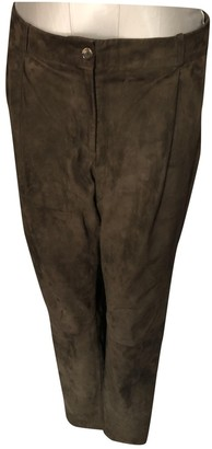 Michael Kors Brown Suede Trousers