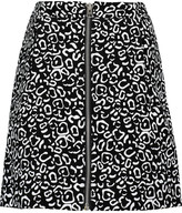 Opening Ceremony Leo printed suede mini skirt