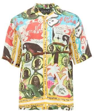 Martine Rose Caribbean-print Twill Shirt - Mens - Multi