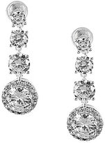 Anne Klein Sparkling Ears Cubic Zirconia Linear Earrings