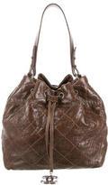 Chanel On the Road Drawstring Bucket Bag