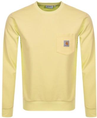 Carhartt Pocket Sweatshirt Yellow