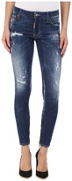 DSQUARED2 Perfetto Wash Medium Waist Skinny Jeans in Blue Women's Jeans