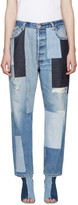 Off-White Blue Patchwork Levis Edition Jeans