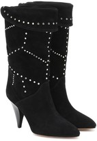 Isabel Marant Lestee studded suede ankle boots