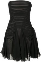 Vera Wang ruched strapless mini dress
