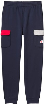 Champion Kids Cargo Color-Blocked Joggers (Big Kids) (Navy/Scarlet/Oxford Heather) Boy's Casual Pants
