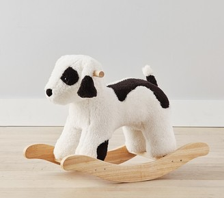 Pottery Barn Kids Sherpa Puppy Plush Nursery Rocker