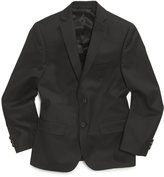 Lauren Ralph Lauren Husky Boys' Solid Black Suit Jacket