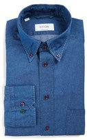 Eton Men's Contemporary Fit Denim Dress Shirt