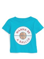 Kid Dangerous Infant Boy's Wanna Be A Baller Graphic T-Shirt