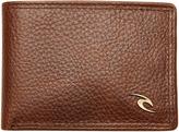 Rip Curl Clip Wave Rfid Slim Leather Wallet Brown