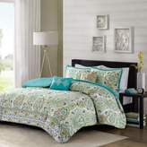 Bed Bath & Beyond Intelligent Design Tasia 4-Piece Twin/Twin XL Duvet Cover Set in Green
