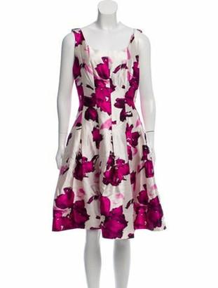 Oscar de la Renta Silk Sleeveless Dress Purple