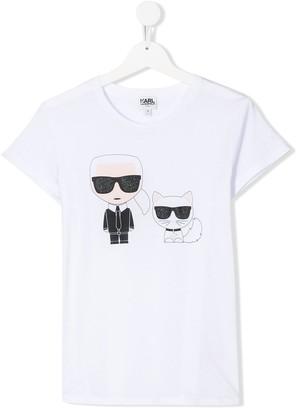 Karl Lagerfeld Paris TEEN Ikonik print T-shirt