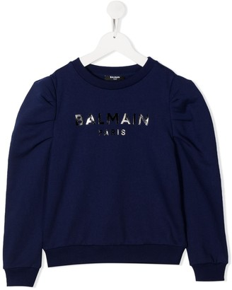 Balmain Kids Logo-Print Cotton Sweatshirt