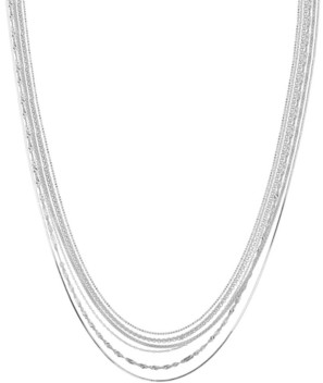 PRIME ART & JEWEL Multi-Chain Sterling Silver Necklace