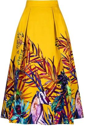 Sika'a Savannah African Print Midi Skirt
