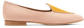 Le Monde Beryl - Venetian Linen Slipper Shoes - Light Pink