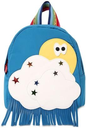 Stella McCartney Kids Nylon Backpack W/ Faux Leather Detail