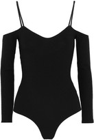 Reformation Cutout Ribbed Jersey Bodysuit - Black