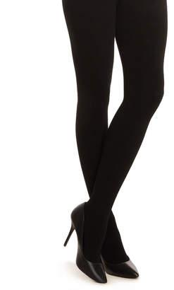Calvin Klein Black Logo Waist Fleece-Lined Tights