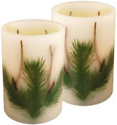 Asstd National Brand Battery Operated LED Candles- Pine Needle (Set of 2)