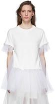 MM6 MAISON MARGIELA White Tulle Sweatshirt