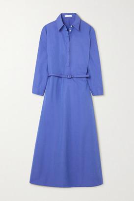 The Row Tanita Wool Maxi Shirt Dress - Blue