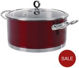 Morphy Richards Casserole Pan 24 Cm - Red