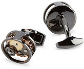 Murano Gunmetal Gear Cuff Links