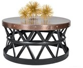 Fashion N You Drum Hammered Coffee Table