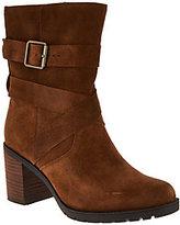 Clarks Artisan Suede Side Zip Boots - Malvet Doris