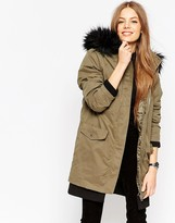 Asos 3 in 1 Parka with Detachable Padded Liner