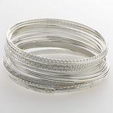 So® silver-tone bangle bracelet set