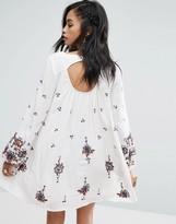 Free People Embroidered Mini Smock Dress