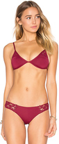 Frankie's Bikinis Frankies Bikinis New Tanner Top in Burgundy. - size S (also in )