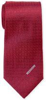 Missoni Red Pattern Silk Tie