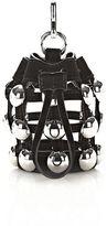 Alexander Wang Dome Stud Mini Roxy Drawstring Keychain In Black