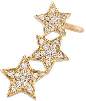 Alinka STASIA diamond triple star left ear cuff